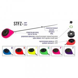 Зимняя удочка Akara STFZ с силиконовым стопором Purple