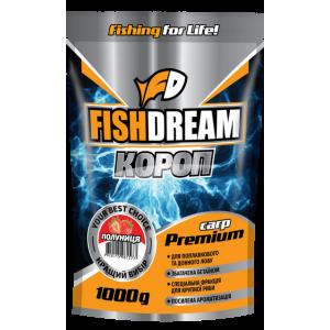 Прикормка Fish Dream Premium Карп Клубника 1кг