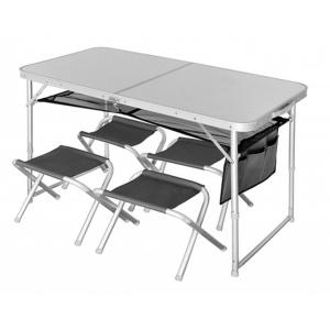 Стол складной + 4 стула Norfin RUNN NF Alu