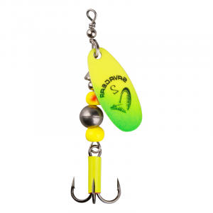 Блесна Savage Gear Caviar Spinner #4 14g 07-Fluo Yellow / Chartreuse