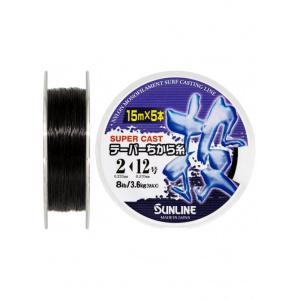 Поводковый материал Sunline TAPERED CHIKARA-ITO 15м 2-12/0.235мм-0,57мм