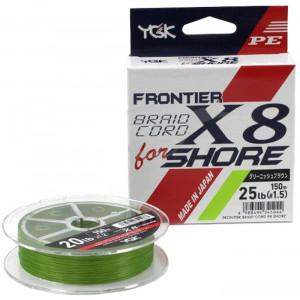 Шнур YGK Frontier Braid Cord X8 150m (зелений) # 0.8