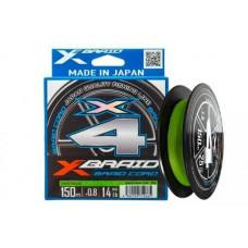Шнур YGK X-Braid Braid Cord X4 150m #1.2/0.185mm 20lb/9.1kg