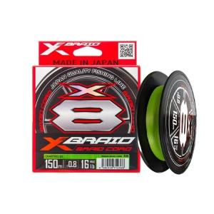 Шнур YGK X-Braid Braid Cord X8 150m #0.6/0.128mm 14lb/6.3kg