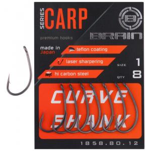 Крючок Brain Curve Shank 01, 8 шт/уп