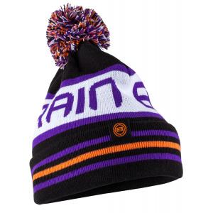 Шапка Brain Black/White/Violet One size ц:фиолетовый